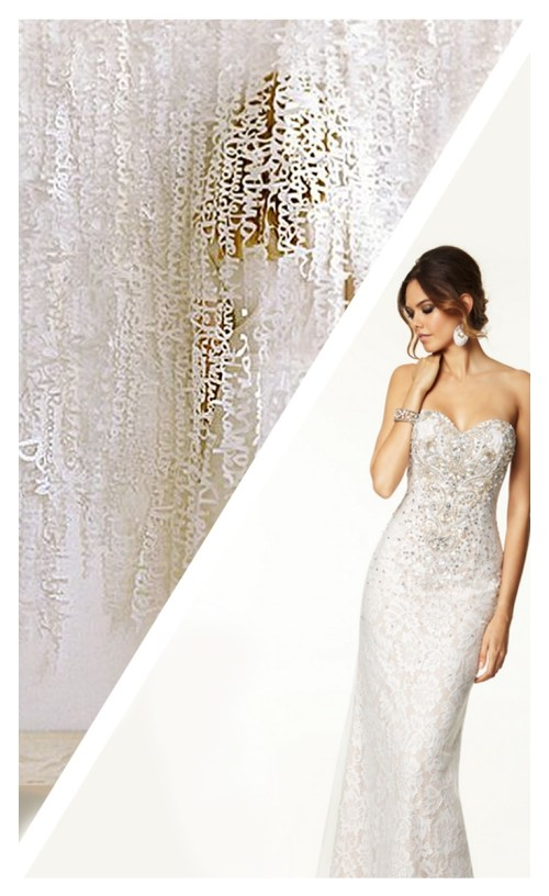 White Paper Word Curtain and Dress Paper Craft for Formal Occasions