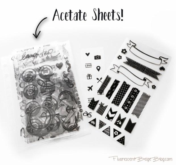 Stamp Binder Acetate Sheets