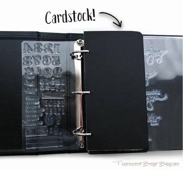 Stamp Binder Cardstock