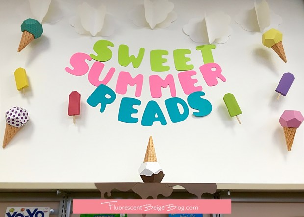 Sweet Summer Reads Paper Ice Cream Cones Display