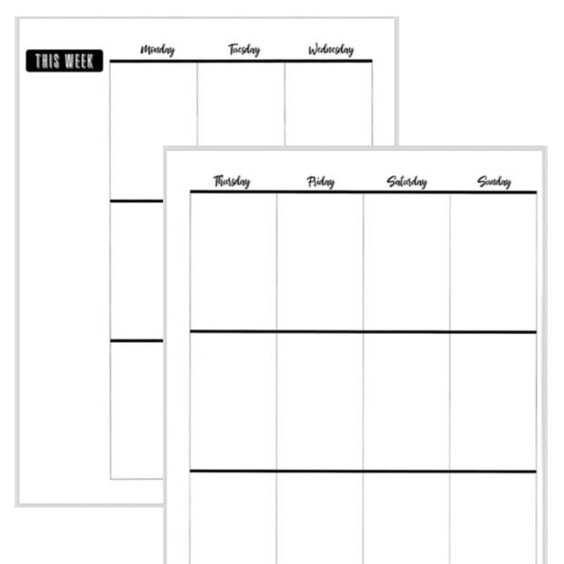 d97f315454a7d FREE Printable Big Happy Planner Set! - Fluorescent Beige