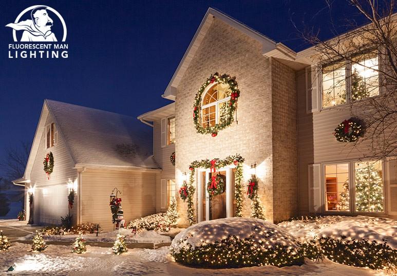 exterior lighting in the winter
