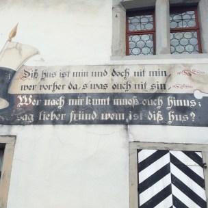 Hausbeschriftung in Werdenberg