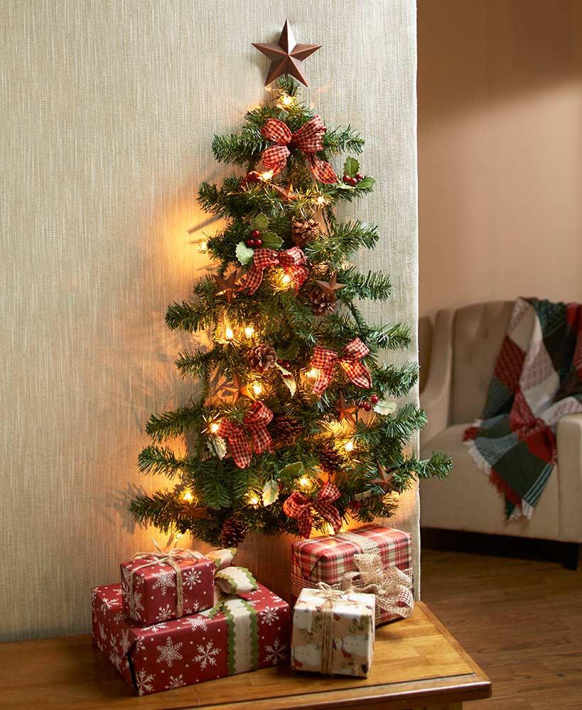Lighted Christmas Wall Trees
