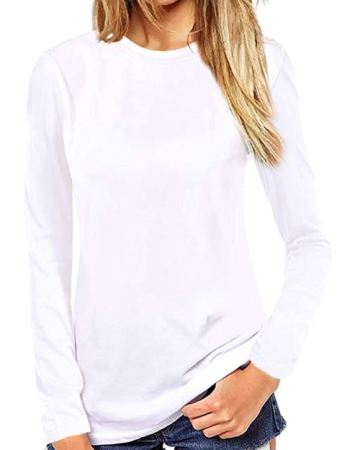 Crew Neck Casual Long Sleeve T-shirt
