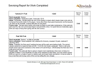 Servicing report Page 2