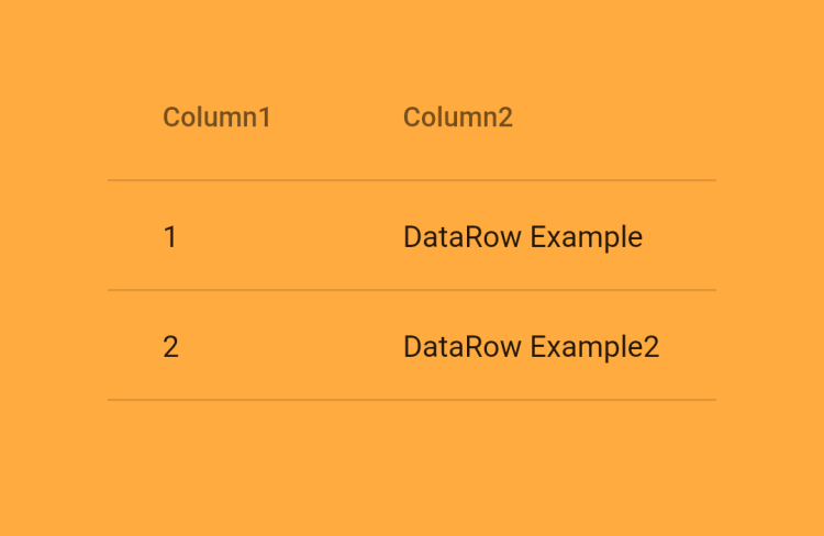 DataRow Widget