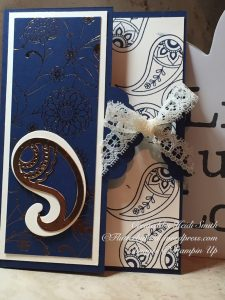 Tag topper punch closure card Stampin up uk demonstrator Heidi Smith Flutterbyheidi