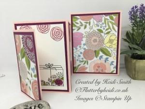 Four fold card by flutterbyheidi