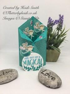 Mermaid tuxedo card by flutterbyheidi