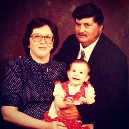 My mom, my dad and me at 6 months old