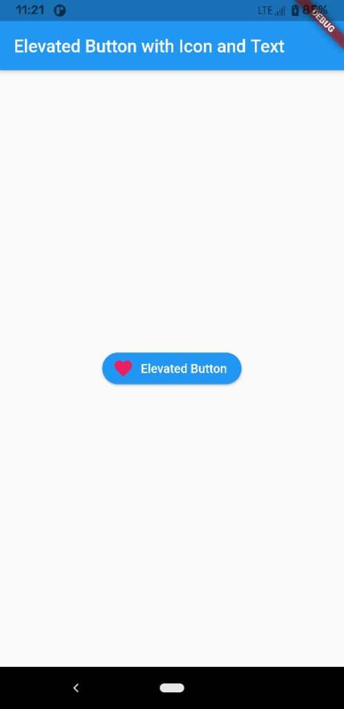 Flutter elevated button with icon and text
