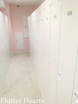 lockers for your personal belongings