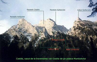 peretii de alpinism bucegi, romania