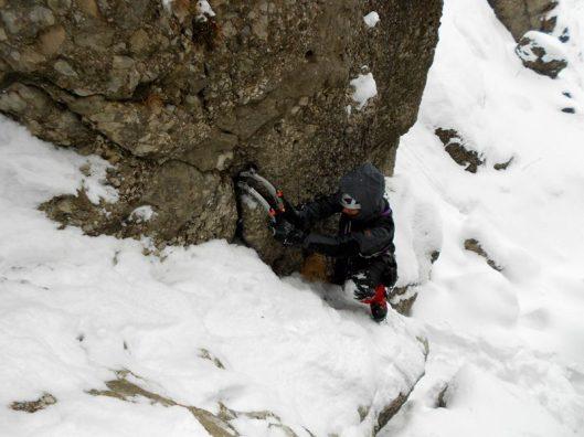 testarea echipamentului pentru explorarea muntelui iarna :P