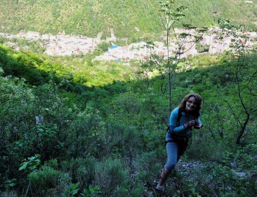 Corina Drosino traseul katharsis, alpinism muntii mehedinti