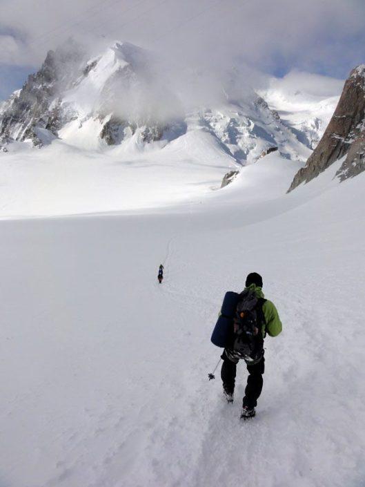 Couloir Chere, Mont Blanc du Tacul - alpii francezi