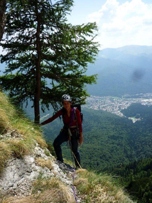traseu alpinism, Muntii bucegi, peretele costilei