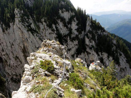 Traseul Surplombelor_alpinism in Piatra Craiului