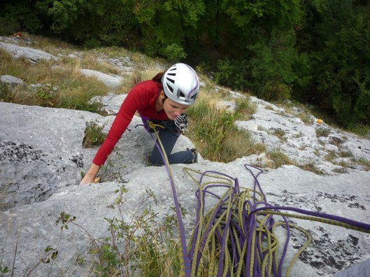 multi-pitch climbing in Romania, peretele animalelor