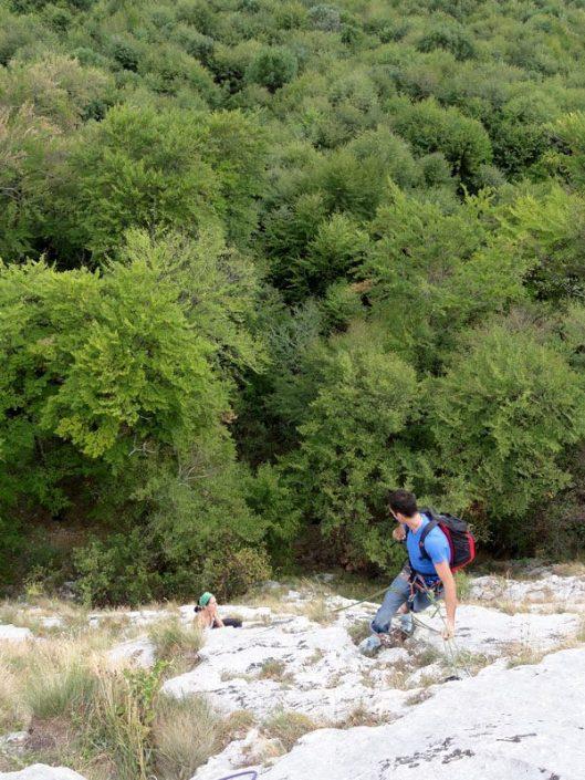 zuzu camelia in Pantera Roz, multi-pitch climbing in Romania
