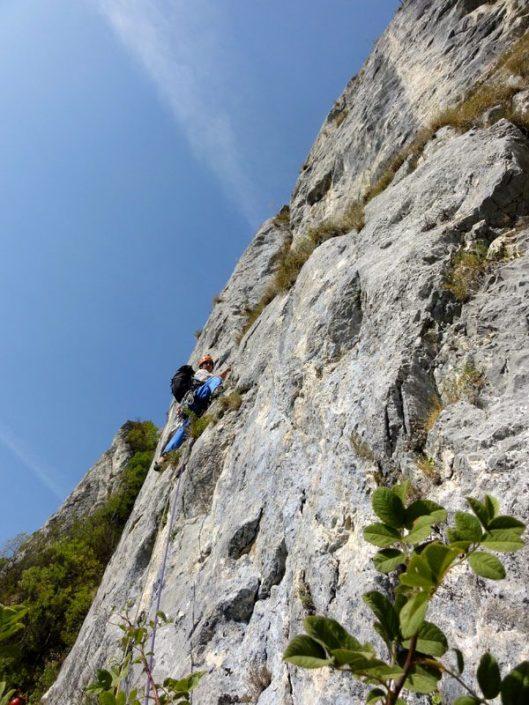 traseul Catrinel 6A, fata inalta, alpinism romania