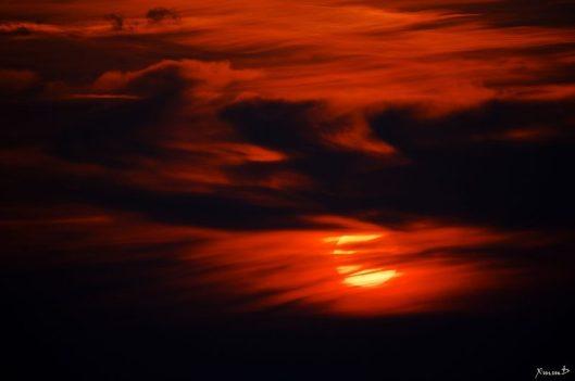 apus de soare masivul ceahalu munte