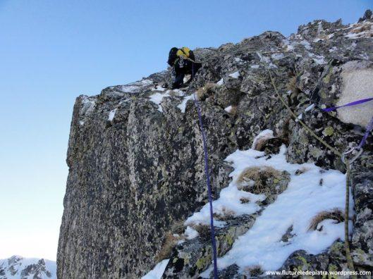 alpinism romania, traseul creasta vulturilor