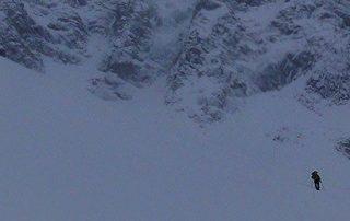 winter landscape Alps fil a plomb