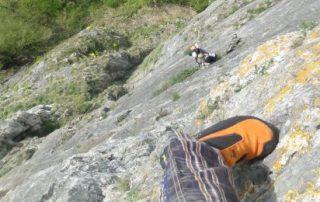 multipitch climbing Freyr, Belgium