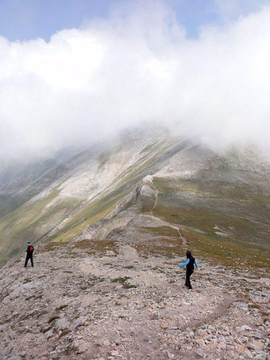 Koncheto ridge in clouds