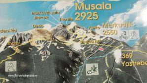harta turistica traseu montan musala