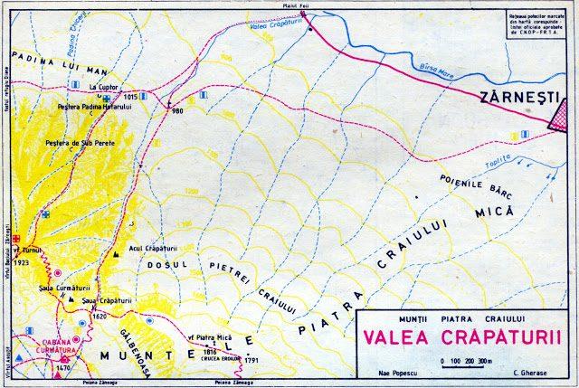 harta masivul piatra craiului