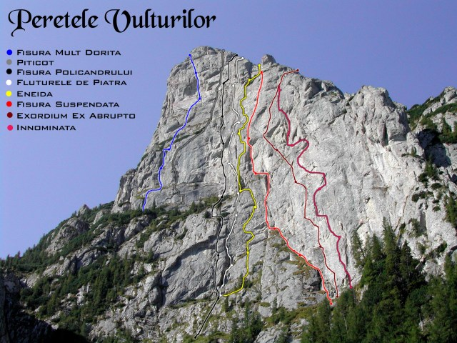 schite trasee alpinism peretele vulturilor