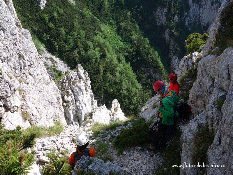 rapel din trasee de alpinism refugiul diana