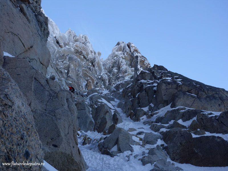 ice climbing aiguille du midi