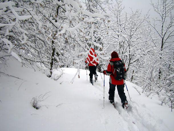 pe schiuri prin Muntii Bucegi