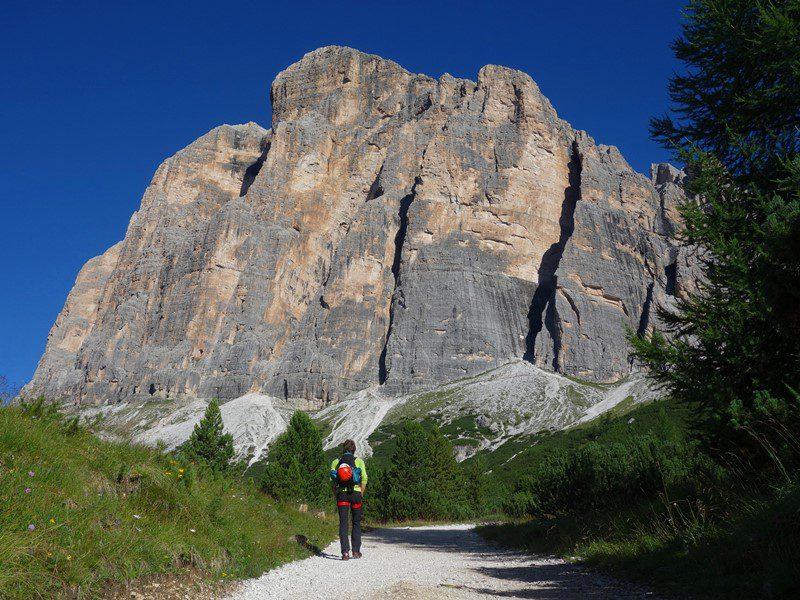 alpinism italia dolomiti traseul Primo Spigolo, Tofana di Roses