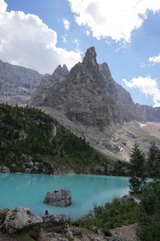 Lacul Sorapiss în toată splendoarea, Dolomiți