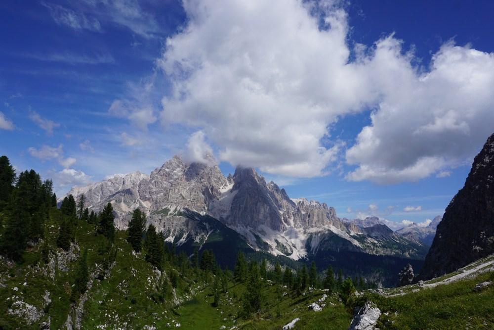 Grupul montan Cristallo, panoramă DOlomiți