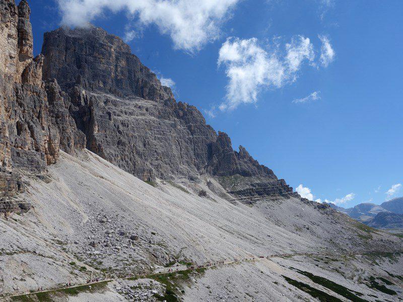 Cima Grande di Lavaredo, fața sudică