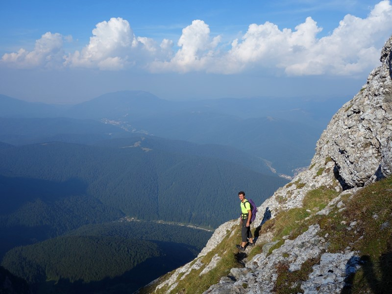 coborâre pe Creasta Văii Albe, Munții Bucegi, alpinism carpati romania
