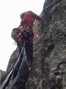 traseu alpinism creasta estica, catarare buila-vanturarita