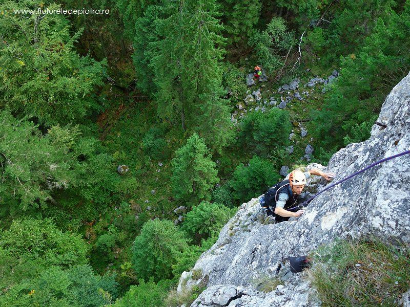 traseul creasta estică, alpinism în buila vanturarita romania