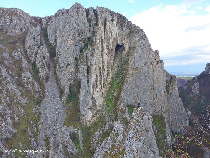 panoramă Cheile Turzii din Creasta Sansil, alpinism ardeal