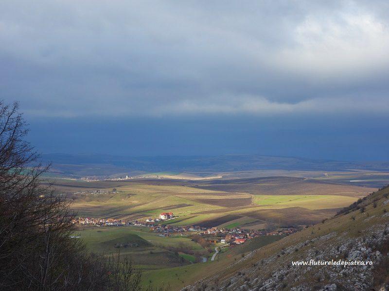 panoramă de furtună, platoul Transilvaniei