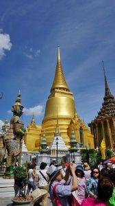 pagoda poleită în aur, Wat Phra Kaew, Templul lui Buddha de Smarald, Bangkok, Thailanda