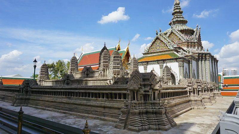 miniatura palatului Angkor Wat din Cambodgia în Palatul Imperial, bankok, Thailanda