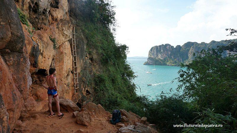 faleza Thaiwand wall din Railay, Krabi, escalada Thailanda