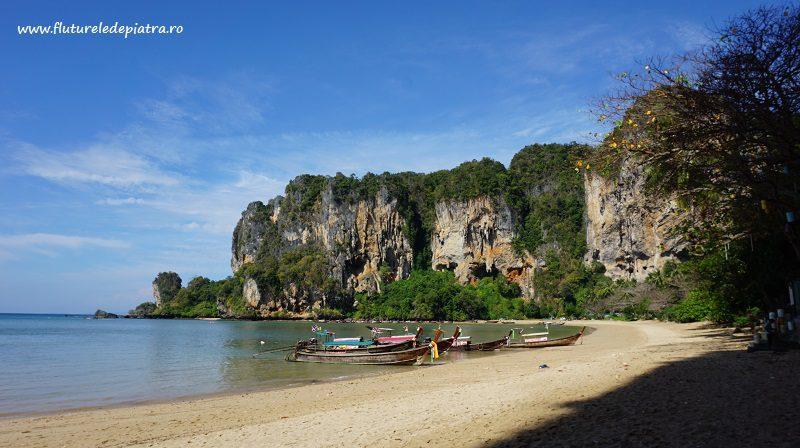 Tonsai și falezele estice, escalada plaja thailanda